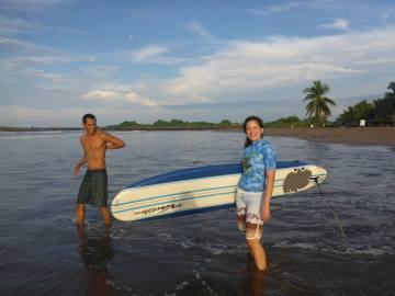 SURF LESSON AT BORREGO BEACH WIHT LINDA