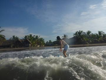 SURF LESSON AT BORREGO BEACH